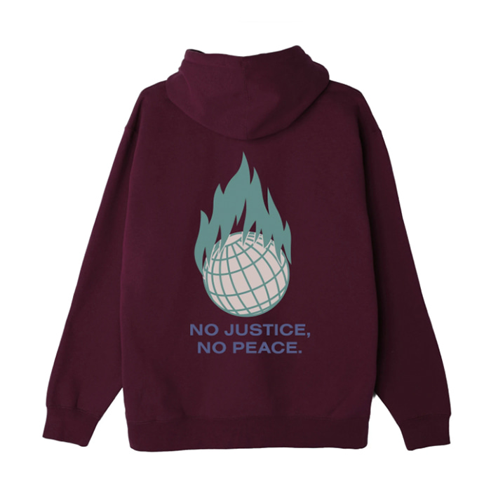 오베이 후드티 RESISTANCE BOX FIT PULLOVER HOOD / BLACKBERRY WINE