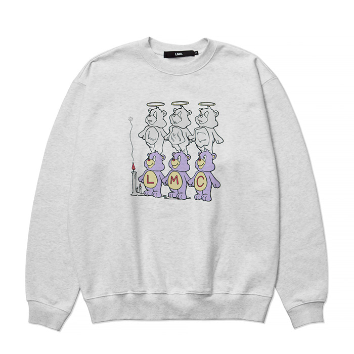 엘엠씨 맨투맨 LMC THREE BEARS SWEATSHIRT lt. heather gray