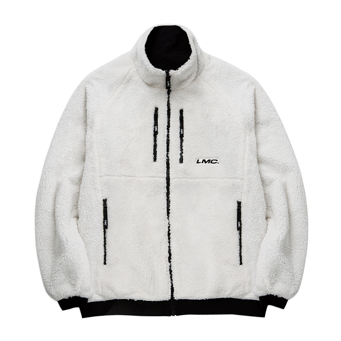 엘엠씨 자켓 LMC FLEECE REVERSIBLE MP JACKET cream/black