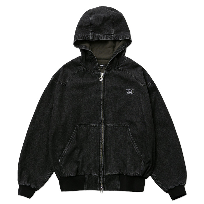 엘엠씨 자켓 LMC WESTERN LINED DENIM HOODIE JACKET black