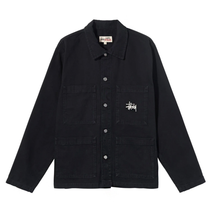 스투시 자켓 CANVAS CHORE JACKET / black