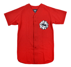 미쉬카 Damaged Keep Watch Baseball Jersey // RED
