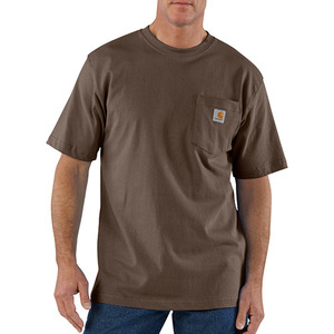 칼하트 workwear pocket t-shirt  // dark brown