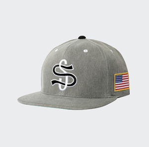 스투시 BIG LEAGUE CAP GREY