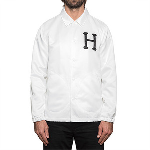 허프 코치자켓 SATIN COACHES JACKET // WHITE