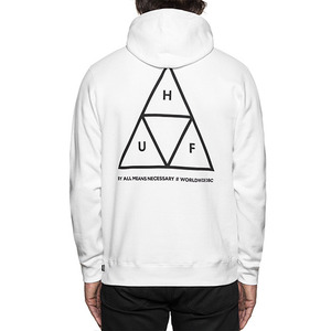허프 후드 TRIPLE TRIANGLE PULLOVER FLEECE  /  WHITE