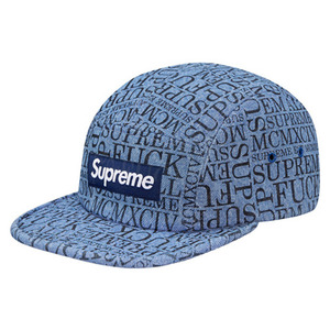- 슈프림 - SUPREME 15AW FUCK EM ALL DENIM CAMP CAP BLUE