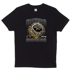 허프  트레셔 콜라보 HUF X THRASHER WORLD CHAMPS TEE / BLACK