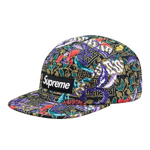 - 슈프림 - Supreme Quilted_Paradise_Camp_Cap_Black