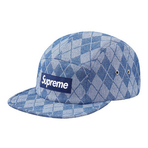 - 슈프림 - Supreme Denim_Argyle_Camp_Cap_Blue