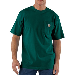 칼하트  workwear pocket t-shirt  //  hunter green