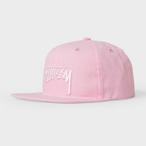 스투시 STOCK SEERSUCKER CAP  //  LIGHT PINK