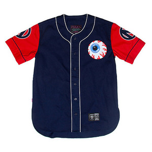 미쉬카 VARSITY KEEP WATCH BASEBALL JERSEY  //  NAVY