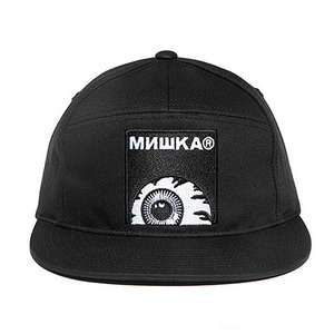 미쉬카 KEEP WATCH BOX LOGO 7-PANEL SNAPBACK  //  BLACK