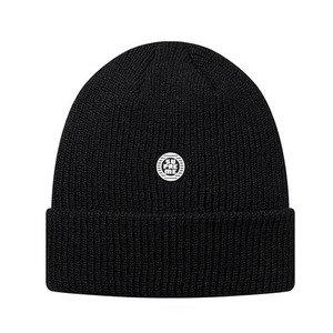 - 슈프림 비니 - SUPREME DISRUPT RUBBER PATCH BEANIE // BLACK