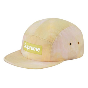 - 슈프림 - Supreme Marbled Camp Cap // Yellow