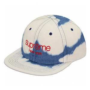 - 슈프림 - Supreme TWILL CLASSIC LOGO 6panel  // BLEACHED DENIM
