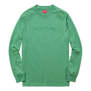 - 슈프림 - Supreme Tonal Embroidered L/S Tee