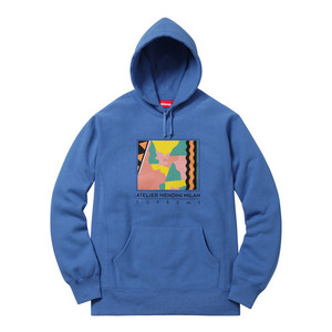 - 슈프림 후드 - Supreme Mendini Hooded Sweatshirt  // Pale Royal